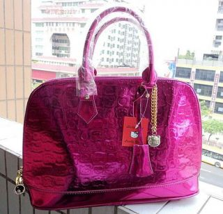 Fashion Hello Kitty Magenta Tote Hand Bag Lady Girls PURSE Shoulder