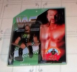 WWF Hasbro Custom MOC Triple H w/ DX Shirt Hunter Hearst Helmsley WWE