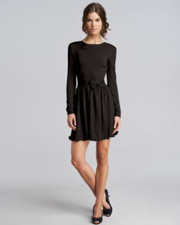 dress available in black $ 595 00 red valentino bow waist wool dress