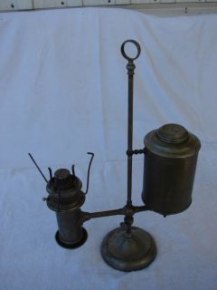 THE ROCHESTER LARGE BRASS SINGLE ARM STUDENT LAMP ANTIQUE ORIGINAL