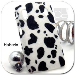 Holstein Velvet Felt Snap on Hard Skin Case Back Cover For ZTE Skate