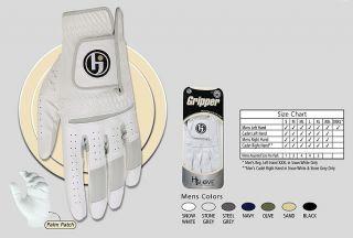HJ Gripper Full Length Mens Right Small White Golf Glove New