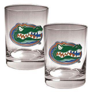 BSS   Florida Gators NCAA 2pc Rocks Glass Set Everything