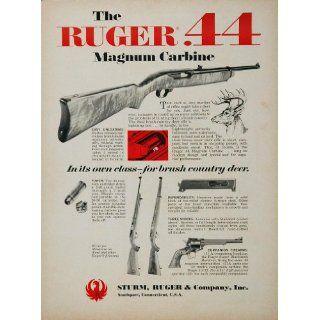 1967 Ad Sturm Ruger .44 Magnum Carbine Deer Hunting