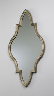 Decorative Hanging Wall Mirror Wood Frame Canyon Bronze Finish Home