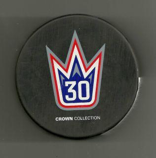 Henrik Lundqvist New York Rangers Crown Collection Puck MSG Exclusive