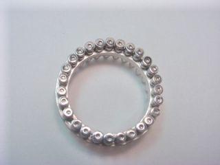 Sterling Silver Mens Bullet Band Spinner Ring Size 13