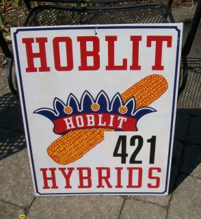 Colorul Hoblit Hybrids Seed Corn Farm Field Sign Atlanta Illinois