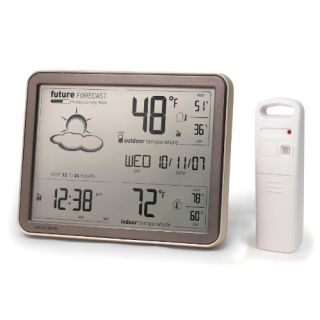 Wireless Weather Forecaster w Remote Sensor Atomic Clock