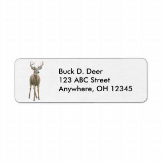 Whitetail Buck Deer Label