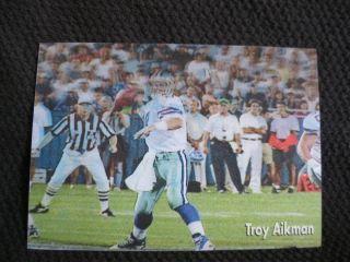 Troy Aikman 1998 Official NFL Film QB Club 3 1 2 x 5 3D Motion Card