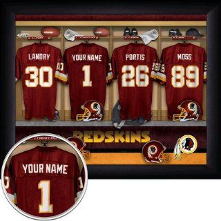 Washington Redskins NFL Customized Locker Room 11 x 14