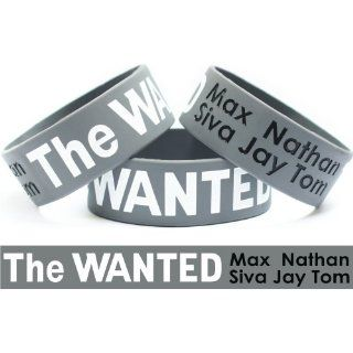 The Wanted Wristband One Inch Bracelet Wrist Band Max Siva Jay Tom
