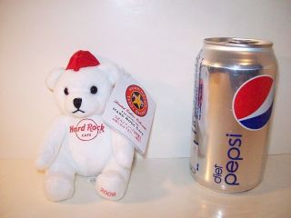 Herrington Teddy Bears Hard Rock Cafe 4 White Bear Red Cap 2009 on