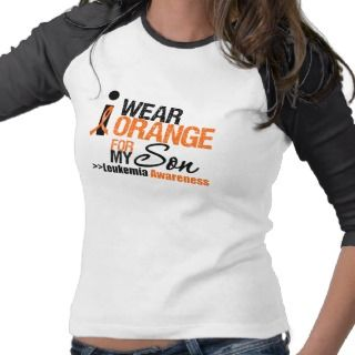 Leukemia Orange Ribbon Hero My Husband T Shirt