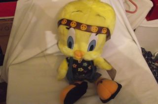 Looney Tunes Tweety Bird Stuffed Toy Dressed Hippie