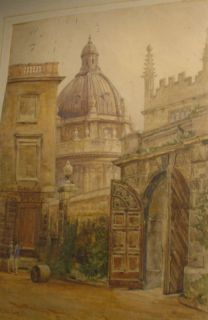 Original Oxford Water Color by Artist John Fulleylove