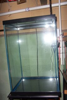 45 Gallon Tall Cube Fish Tank with Stand Glass Lid and Light