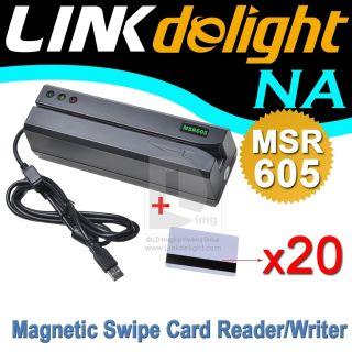MSR605 HiCo 3TRACK Magstripe Card Encoder Reader MSR206