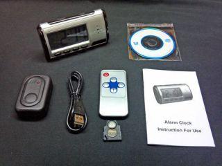 hidden spy camera alarm clock mini nanny camera DVR remote smart