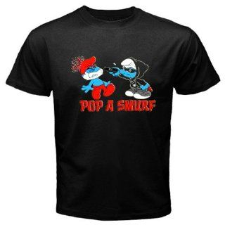 Pop A Smurf New Black T shirt Funny Size L Everything
