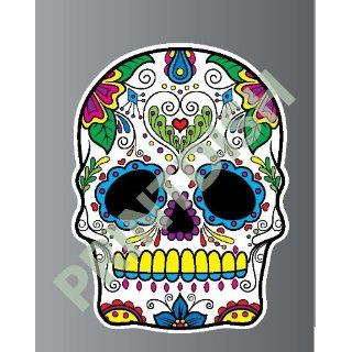 Sugar skull 6 5 sticker vinyl decal 3 x 2.2 Everything
