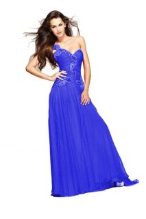 Sherri Hill 1460 One Shoulder Jeweled Evening Gown Various Colors