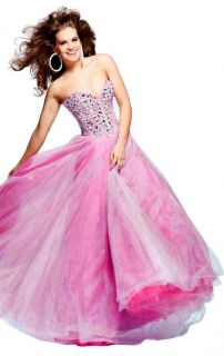 Sherri Hill 1434 Strapless Jewel Embellished Evening Gown Various