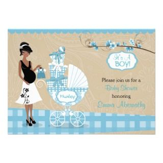 Bun In The Oven Boy Baby Shower Invitations