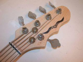 Dean Hillsboro Black 5 String J Bass Active EQ Pickups