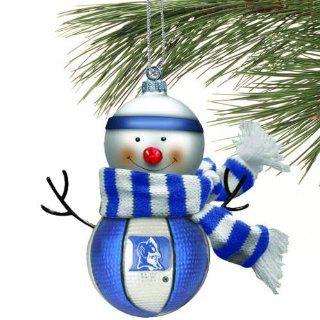 Duke Blown Glass Snowman Ornament (Set of 2) Sports