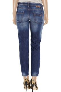 Just Cavalli Cropped low rise straight leg jeans    64% Off