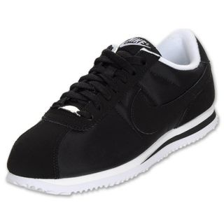 Nike Mens Cortez Nylon Casual Shoes Black/White