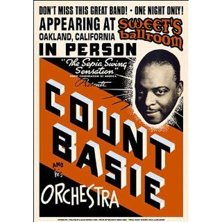 Count Basie Orchestra (Jazz) Music Poster Print   17 X 24