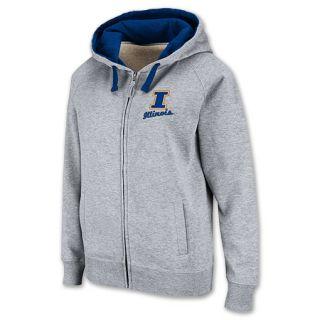 Illinois Fighting Illini NCAA Womens Hooded Full Zip Sweatshirt