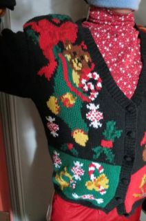 Patchwork Hodge Podge of Icons Ugly Christmas Sweater Jumper Mens
