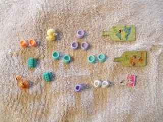 B6 Littlest Pet Shop Lot of Misc accessories shoes tags skates etc