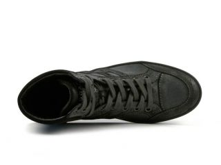 Hogan mens high sneakers shoes in Dark Gray Leather Size US 7.5   EU