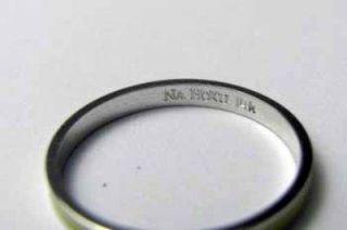 na hoku 14k white gold yellow enamel ring guard 6047 we ship worldwide