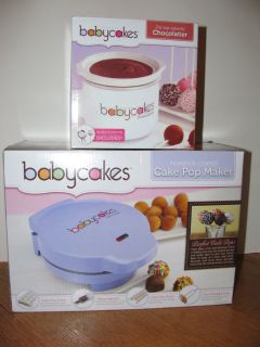 Babycakes Cake Pop Maker Donut Hole Maker AND Chocolatier NEW