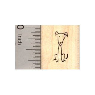Stick Figure of Dog Rubber Stamp (Part of our Family Stick