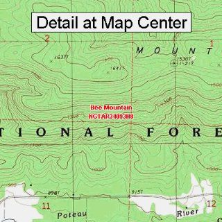 USGS Topographic Quadrangle Map   Bee Mountain, Arkansas