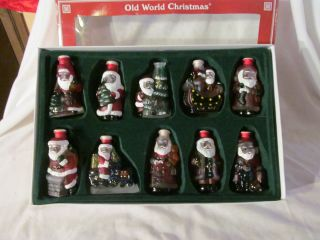 Old World Santa Christmas Light Covers Glass Santa Claus Light Covers