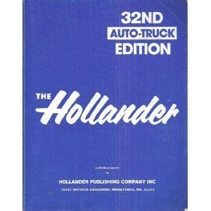 Hollander 32nd Auto Truck Edition Manual