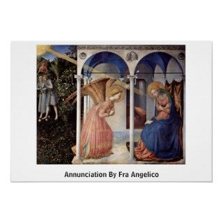 Scene Annunciation By Fra Angelico Posters