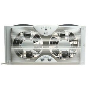 description holmes hawf2043 twin window fan with thermostat note these