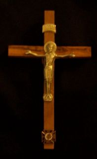 Holy Land Crusades Knights Templar KT Olive Wood Crucifix Cross