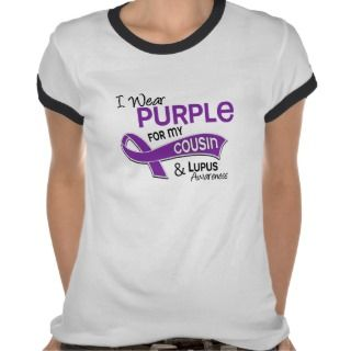 Wear Purple For My Cousin 42 Lupus T shirts
