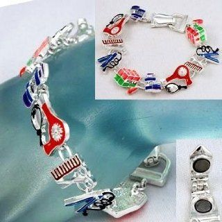 Hair Stylist Beauty Charm Bracelet Comb Scissors Dryer Hot