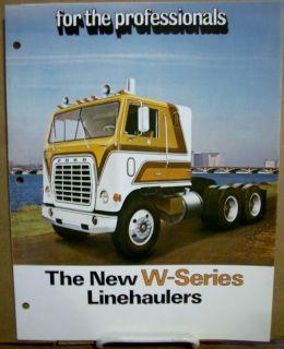 1974 74 Ford W Series Linehaulers Diesel Semi ruck racor Sales